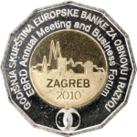 25 kuna - Annual Meeting of the European Bank for Reconstruction and Development, Zagreb 2010