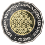 25 kuna - Republic of Croatia - a Member of the European Union - 1 July 2013