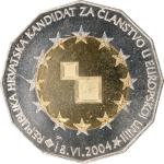 25 kuna - Republic of Croatia - EU Membership Candidate, 18 June 2004