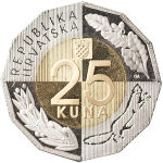 25 kuna – 25th Anniversary of Independence of the Republic of Croatia, 8 October 1991 – 8 October 2016