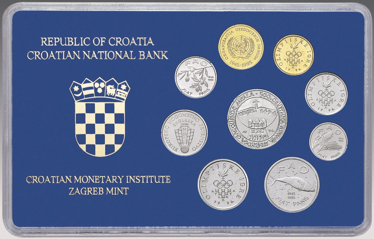 Numismatic Set Of Commemorative Kuna And Lipa Circulation Coins